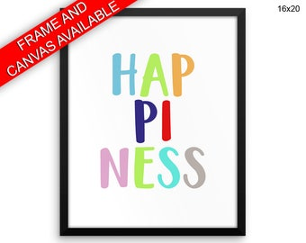 Happiness Prints  Happiness Canvas Wall Art Happiness Framed Print Happiness Wall Art Canvas Happiness Nursery Art Happiness Nursery Print