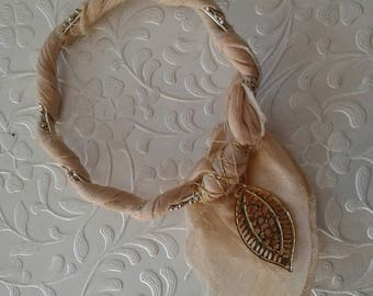 Fabric bangle bracelet