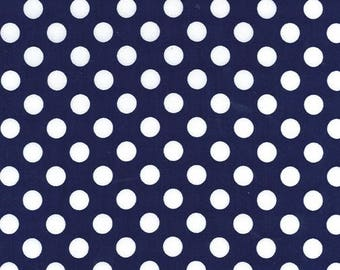 Navy Blue Ta Dots Fabric - Michael Miller Fabric