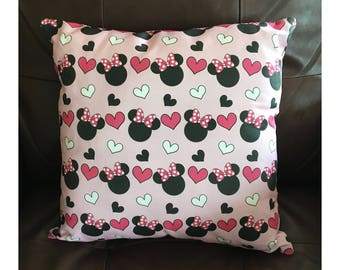 Pink Mouse Ears Pillow