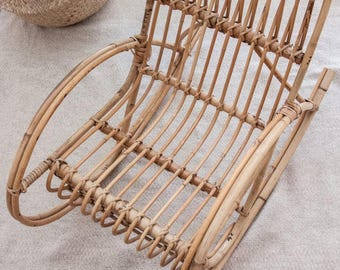 Rattan kid's rocking chair