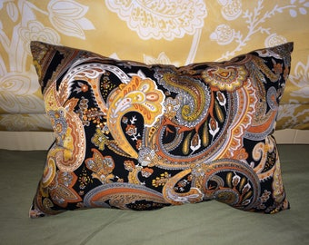 Dark Paisley decorative pillow
