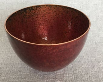 Small enamelled copper bowl
