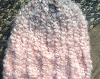 Pink Plush Baby Hat