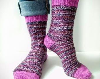 Knitting Pattern PDF Only - At Home Socks Pattern, Knit Socks Pattern