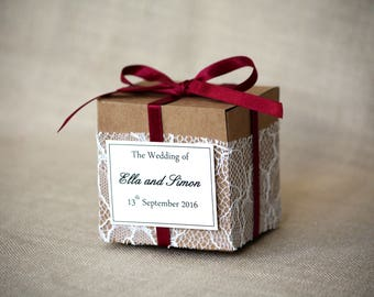 Wedding favour gift box