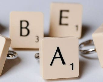 Vintage Scrabble Tile Ring