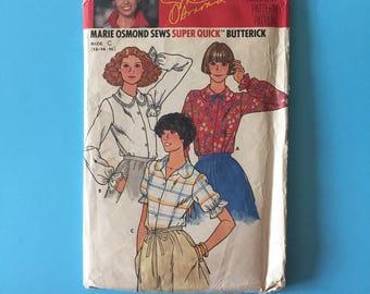 Vintage Pattern - Butterick 6113 Marie Osmond Blouse
