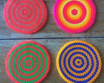 Set of 4 Neon 'Rave' Coasters