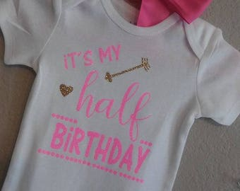 Personalized Baby Bodysuit | Personalized Onesie | Handmade | My Half Birthday | Baby Gift | Special Gift