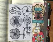 CF0002 - Make Everyday Beautiful - Flower Stamp Set