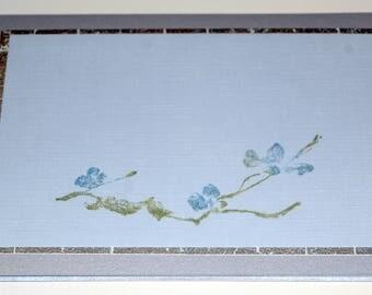 Sweeping Flowers - Blank