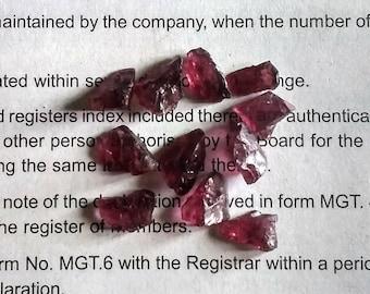 Natural Garnet Rough Ruby Red Garnet Chuncks approx 37.5 Ct. LT-4
