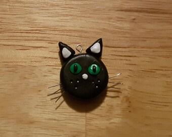 Black Cat Charm, Clay