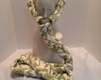 Green and cream fleece Cpap covers