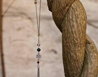 Necklace Catches Sun