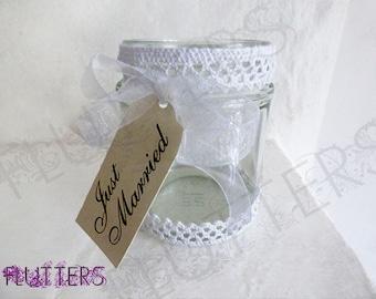 Glass Wedding Tea Light holder