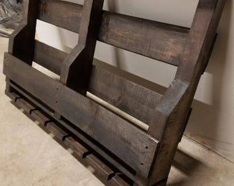 Reclaimed Wooden Pallet Wine Rack | Rustic Home Decor