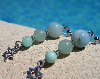 Semi precious stone earrings - handmade - single
