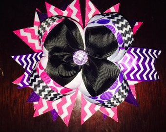 7 1/2 Inch Stacked Hair Bow