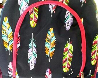 Fancy Feathers Medium Backbag