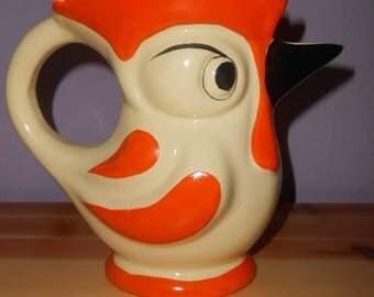 Art Deco Ditmar Urbach ceramic Rooster rarity