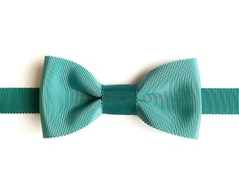 Hand - made bow tie - bowtie wedding - gift for coworker - Pine Green & Peacock Green