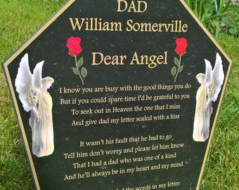 Personalised memorial graveside plaque, Bereavement sympathy gift, Garden of Remembrance