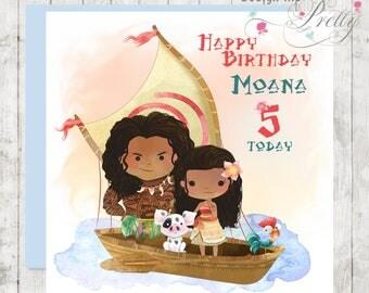 Personalised Moana Children's Birthday Card