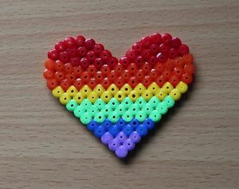 Heart Shaped Rainbow Pride Flag