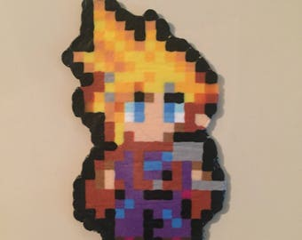 Final Fantasy VII Cloud Perler Bead Art