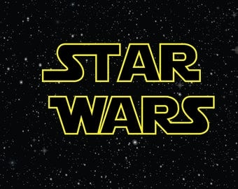 PRINTED Star Wars Birthday Party Backdrop - Star Wars Birthday Party Background - Star Wars Party Banner Decoration