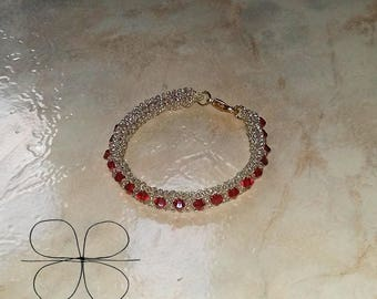 Red drops bracelet