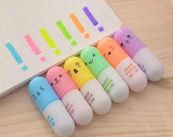 Cute Pill Highlighter Set
