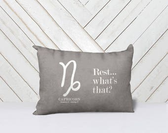 Astrology Throw Pillow Covers (Capricorn - Aries)