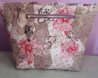 """Handmade South African Shoulder bag Pink Flower 13""""x18"""""""