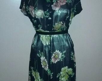 Vintage floral dress.
