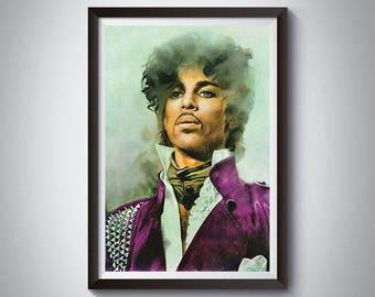Prince Inspired Art Poster Print, Prince, Prince Poster