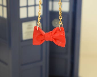 Dr Who Bow Tie Necklace