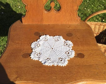 Small doily in crochet
