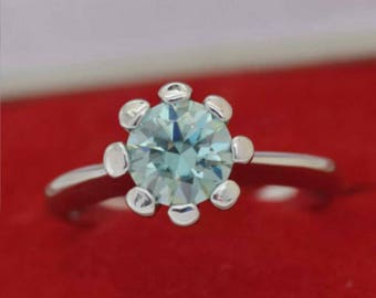 1 ct blue moissanite ring GRAND OPENING SALE