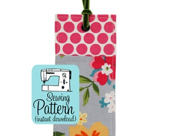 Fabric Bookmark PDF Sewing Pattern | Sew quick and easy book marks for teacher gifts, crafts shows, or school or library fundraisers, etc.