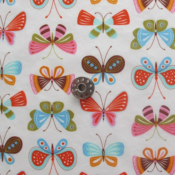 FAT EIGHTH Flutter Wing and Leaf by Gina Martin for Moda | Butterfly Print Quilting Cotton Fabric