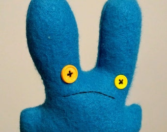 concerned sh.t bunny, bright blue, SALE