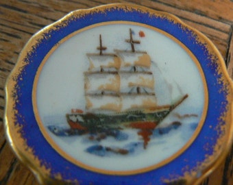 Vintage Limoges mini plate 1 3/4 inches across