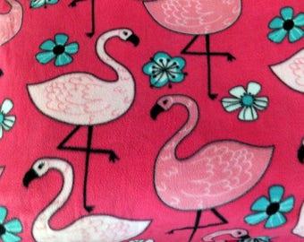 Four Dollar Fabric Destash Sale! Fleece Pink Flamingos!
