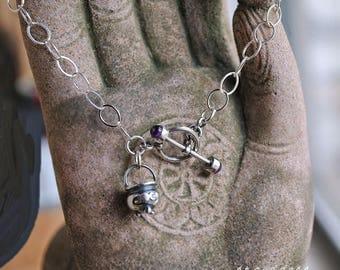 3 MOON CAULDRON all sterling silver length choice charm bracelet by srgoddess