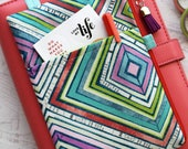 Colorful planner accessories bag - planner cover pouch - pencil case - planner bag - BUJO bag - zipper pouch - zip pouch - Mothers Day Gift
