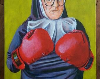 Sisters of Pugilism - Sister Mary den na Blarney - original painting