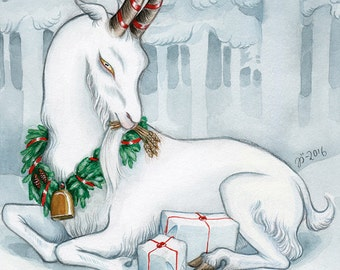Yule Goat Holiday card